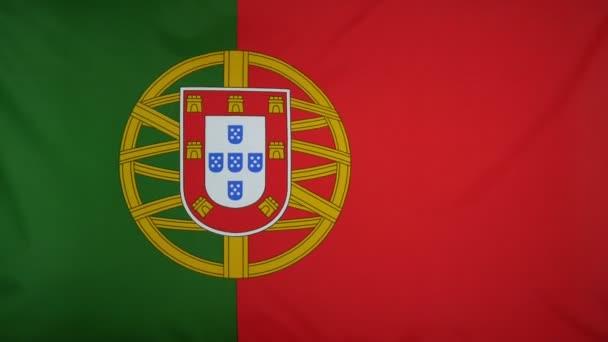 Portugália lobogója valódi szövet közelről
