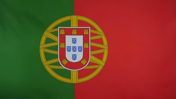 Slowmotion igazi textil Portugália lobogója