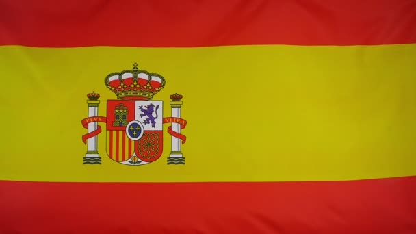 Slowmotion real textile Flag of Spain