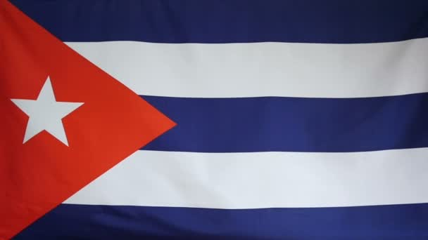 Slowmotion real textile Flag of Cuba