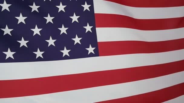 Slowmotion real textile Flag of USA