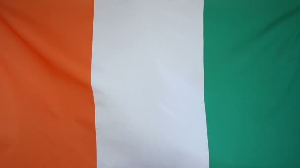 Slowmotion real textile Flag of Ivory Coast