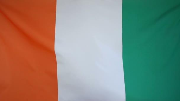 SlowMotion skutečné textilní Vlajka Pobřeží slonoviny