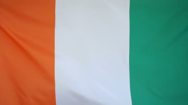 Ivory Coast Flag real fabric close up