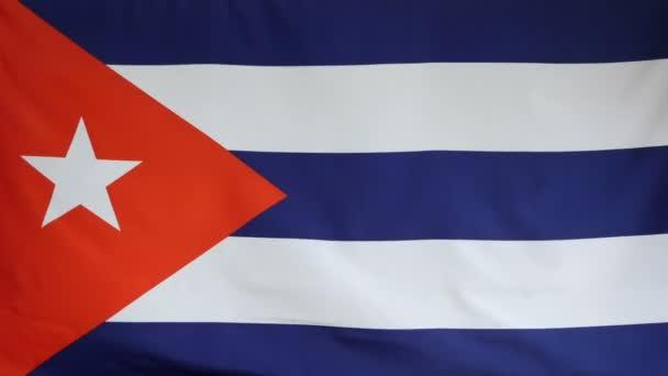 Vlajka Kuby skutečné tkaniny zblízka