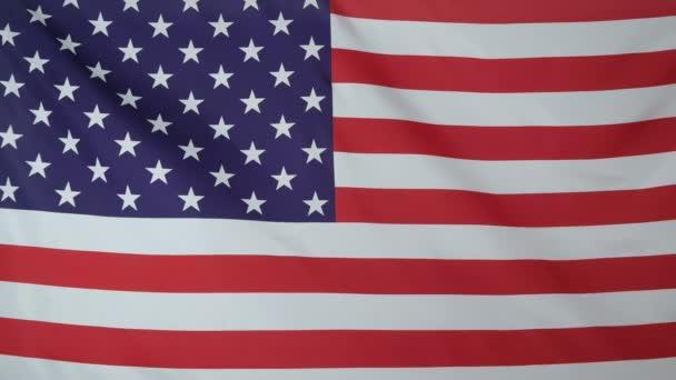 USA Flag real fabric close up