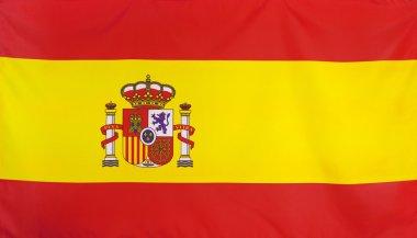Spain Flag real fabric