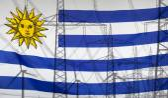 Fotografia Energy Concept Uruguay Flag with power pole