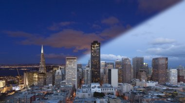 San Francisco Skyline twilight transition
