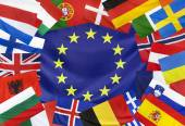 Fotografie Concept  Europeen Flag with Countries