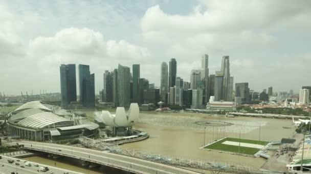 Singapore Skyline Aerial View
