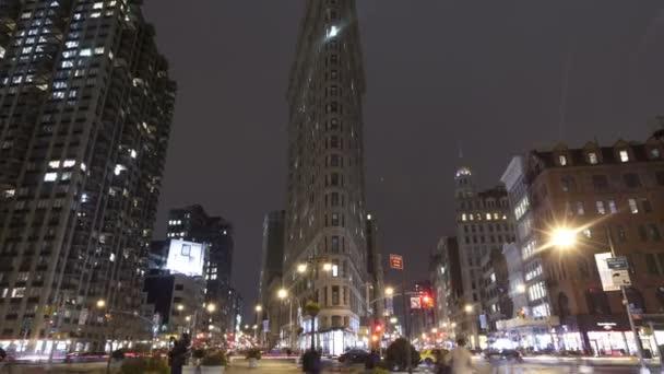 Flatiron Building New York v noci