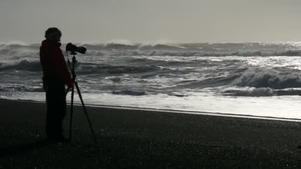 Fekete homok, homályos fényképész