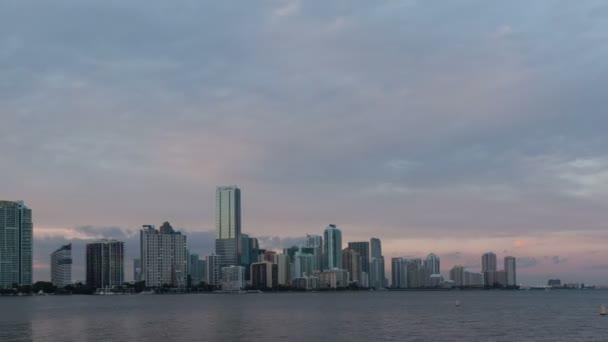 Time lapse Miami Skyline pan shot