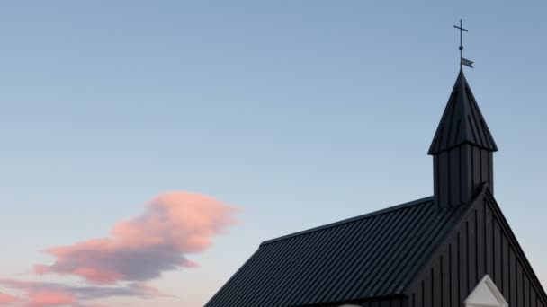 Timelapse černý kostel Island oddálit