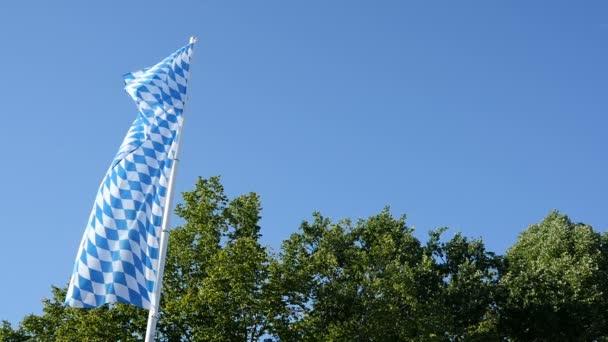 Bayerische Fahne slowmotion