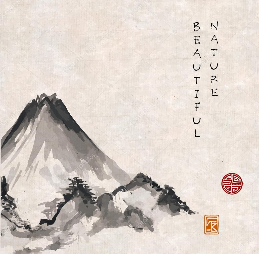 Mountains in Japanese style