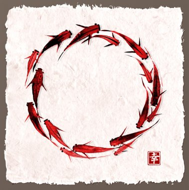 Circle of little fishes