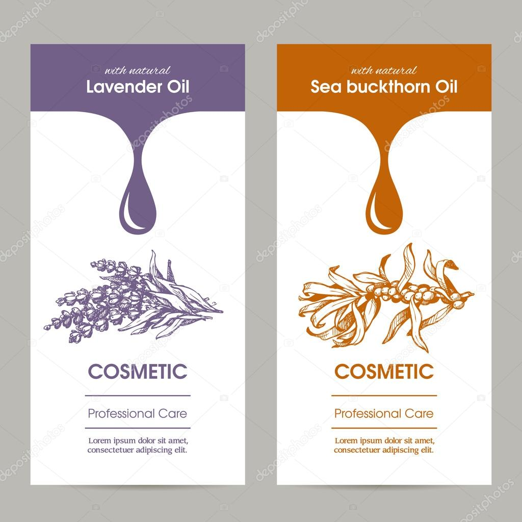 Vector set packaging design for cosmetic with sketch illustration of ...