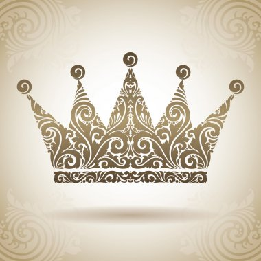 Vintage ornamental crown