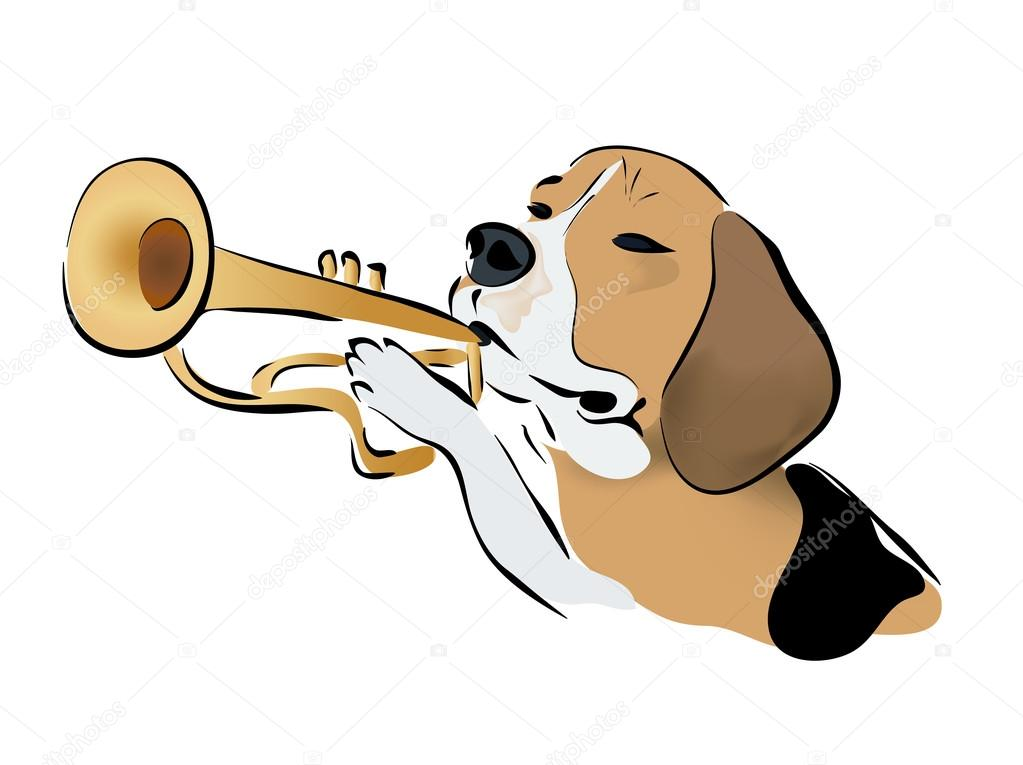 Pictures Of Dogs Playing Saxophone
