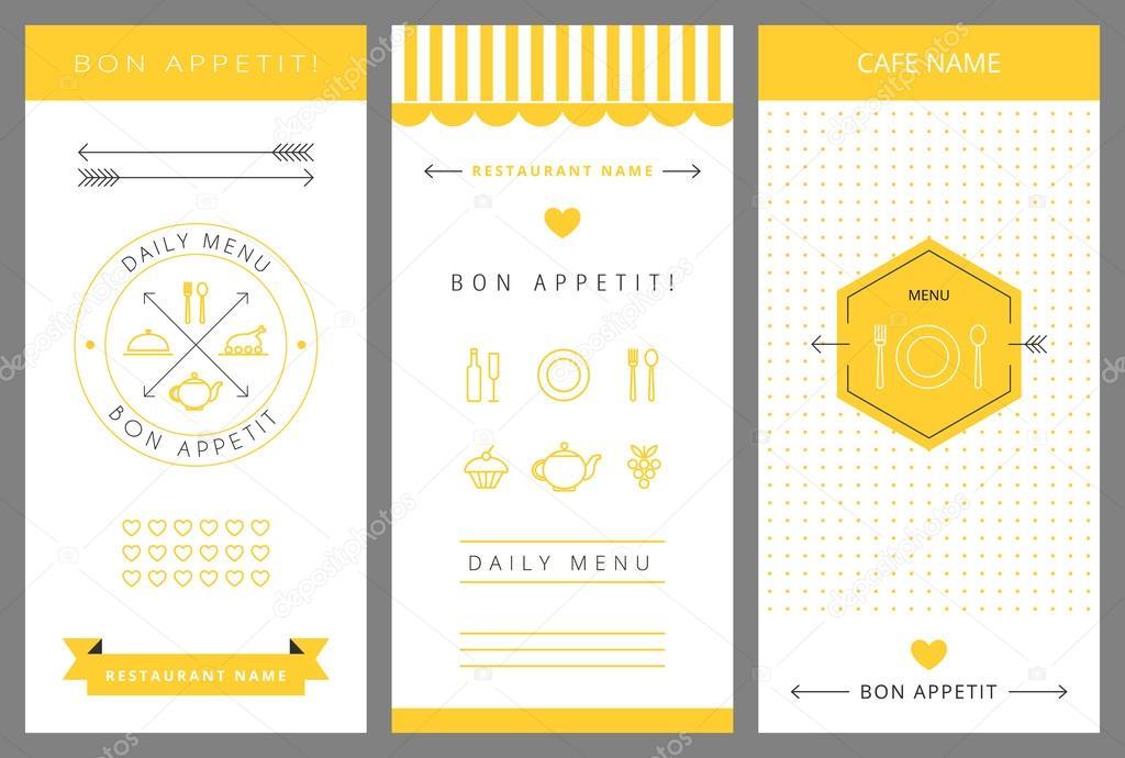 Daily menu design template. — Stock Vector © Baksiabat #58140921