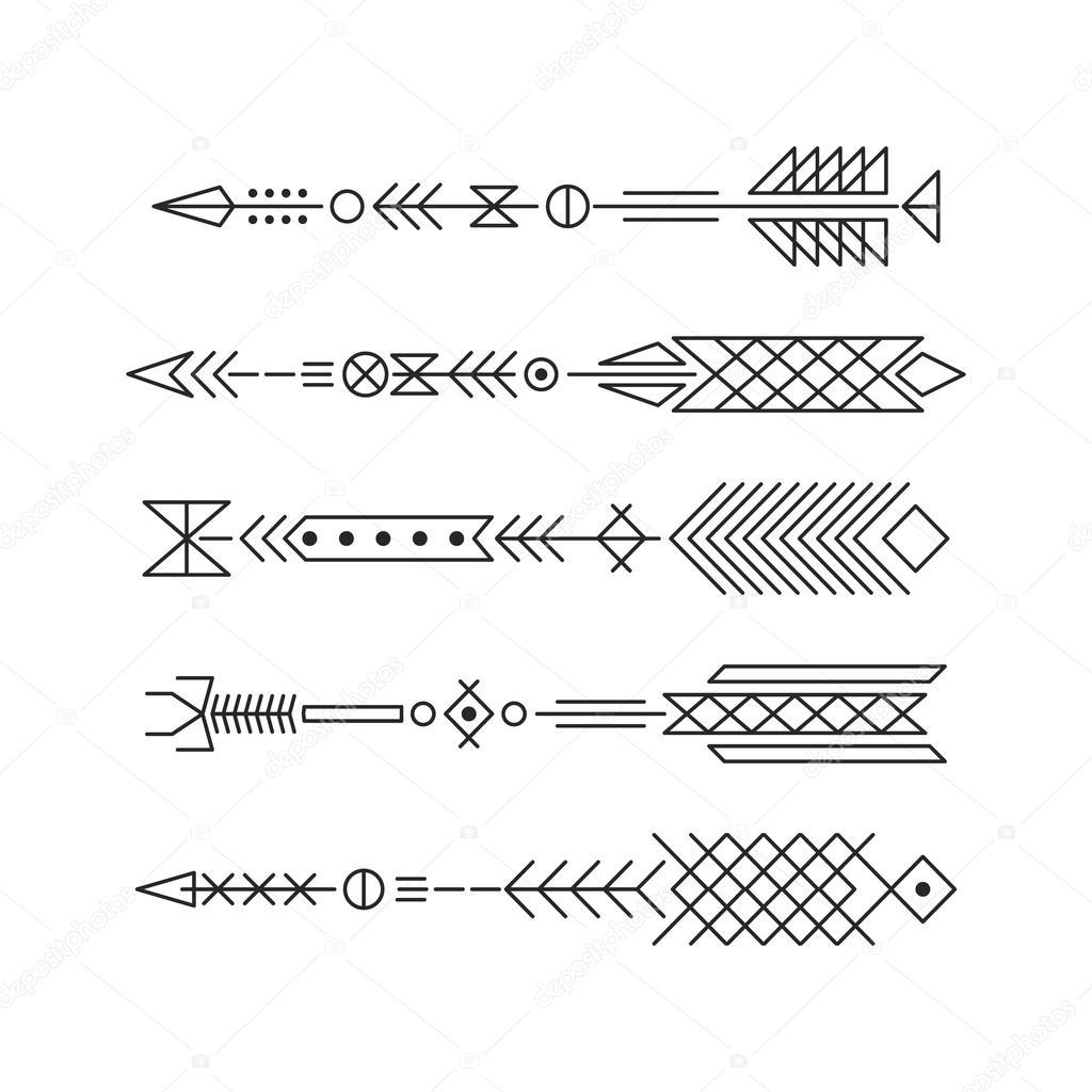Vector Para Tatuajes Flechas De Hipster Elementos Abstractos