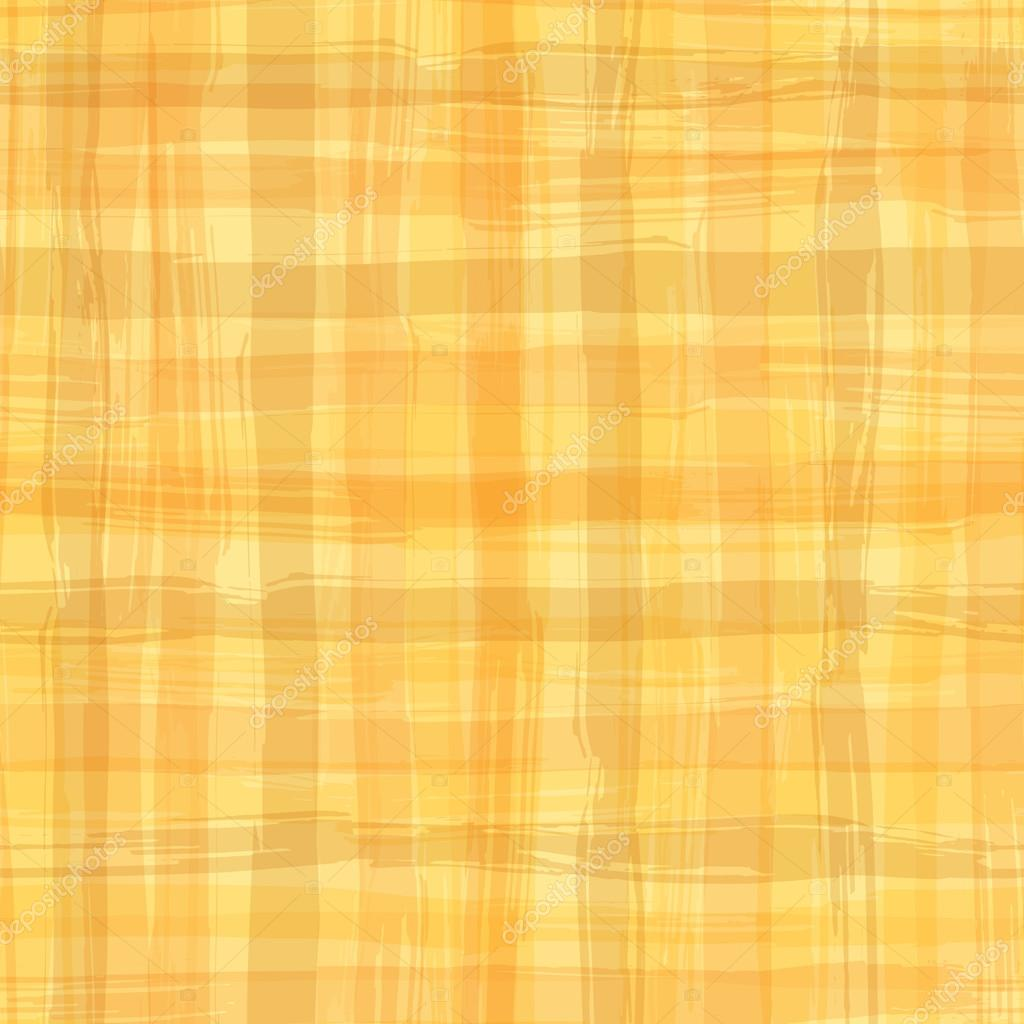 Vector Seamless Pattern With Square Hand Drawn Texture. Yellow Checkered  Tablecloth U2014 Stock Vector