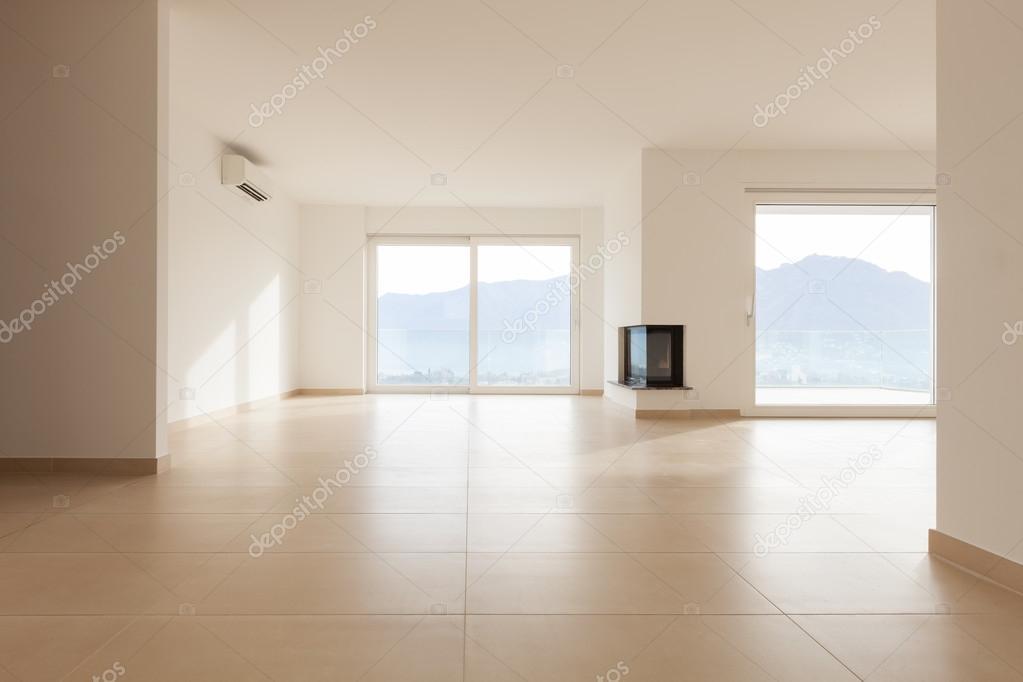 Lichte Plavuizen Vloer : Interieur van nieuw appartement lege woonkamer plavuizen vloer