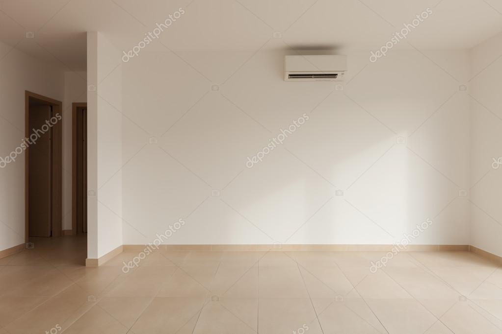 Witte Plavuizen Woonkamer : Interieur van nieuw appartement lege woonkamer plavuizen vloer