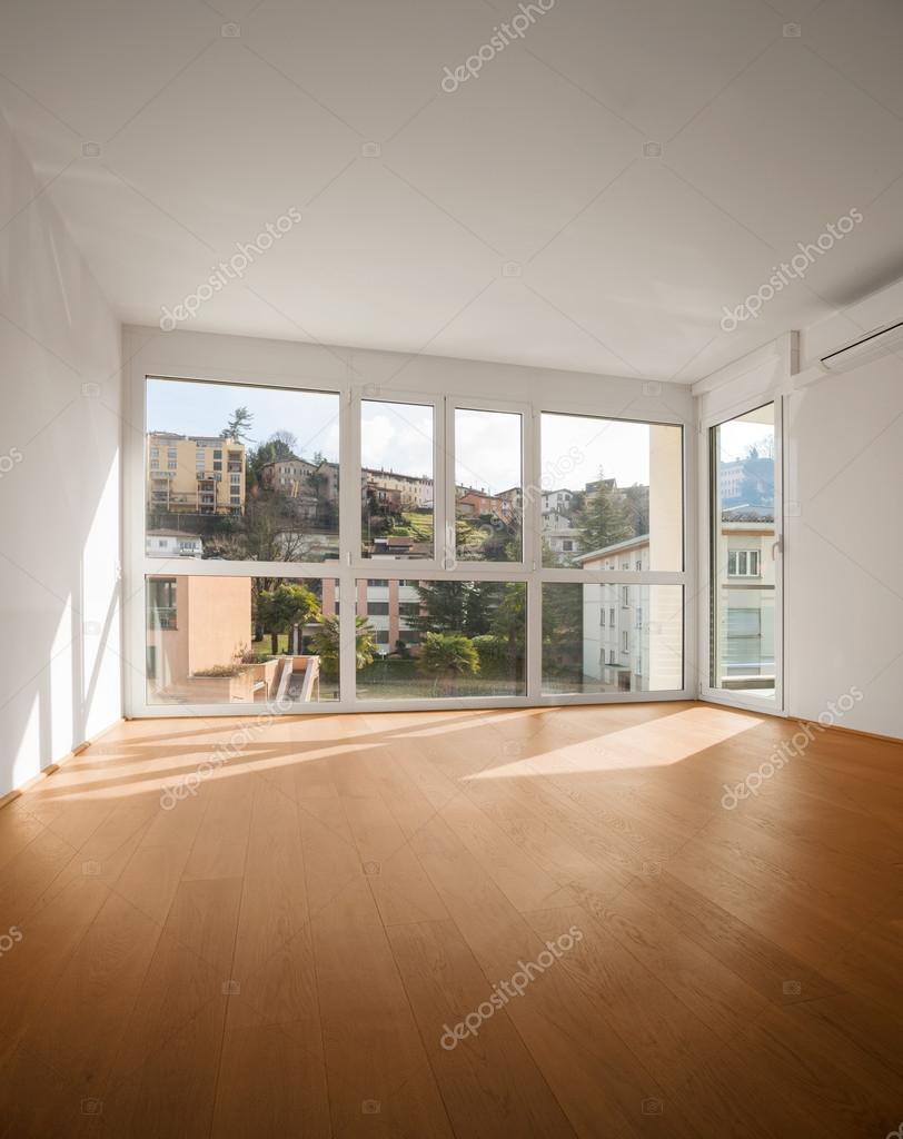 new empty apartment room with big window stock photo zveiger