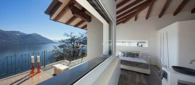 Comfortable bedroom of a loft