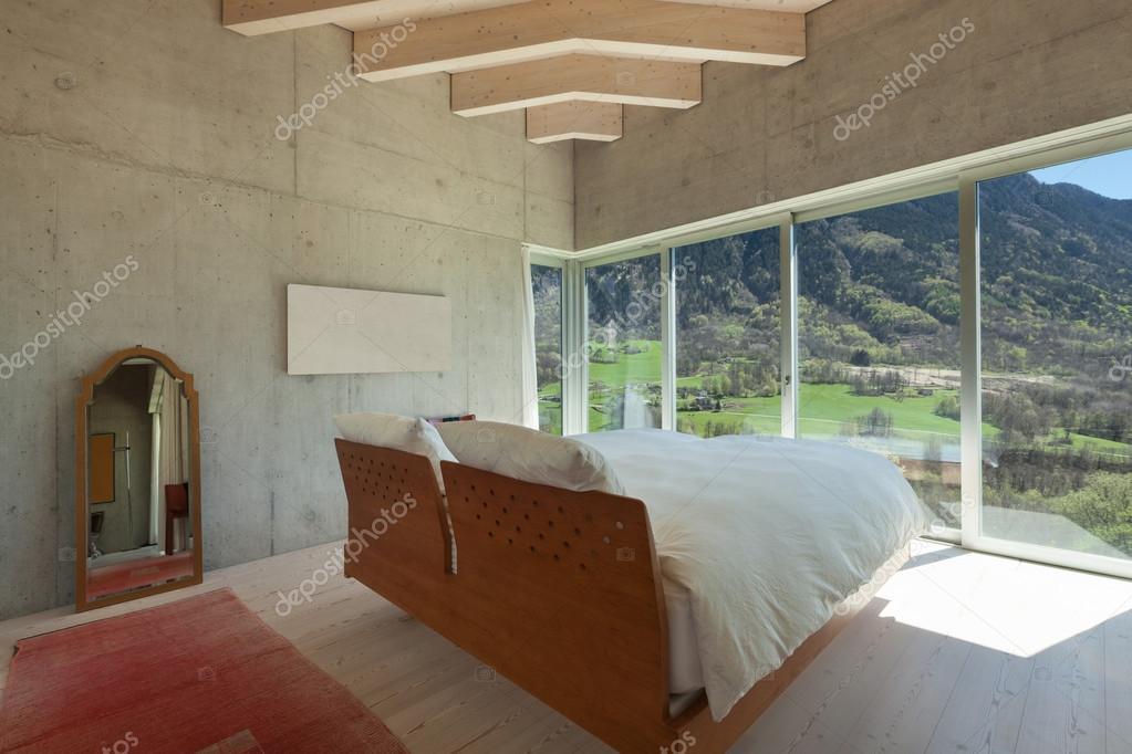 Modern chalet slaapkamer u2014 stockfoto © zveiger #114378478