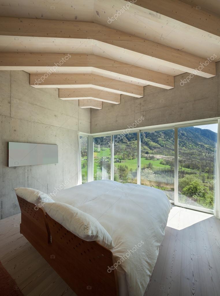 Modernes Chalet, Schlafzimmer — Stockfoto © Zveiger #114379234