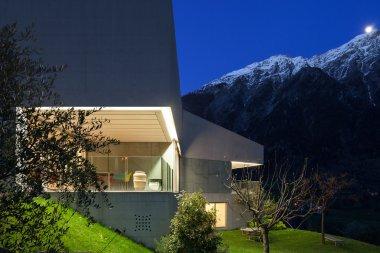 concrete house, terrace