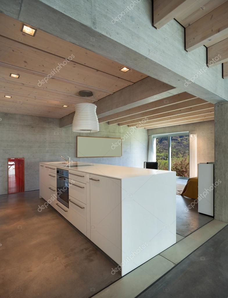 Ilha De Cozinha Moderna Interior Fotografias De Stock Zveiger