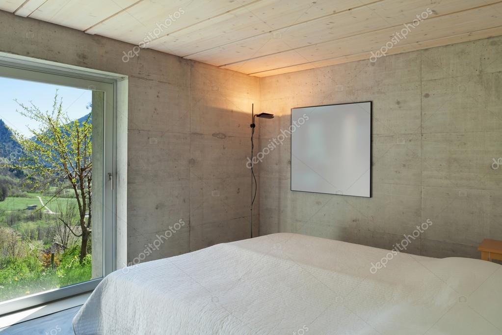 Modernes Chalet, Schlafzimmer — Stockfoto © Zveiger #114381122