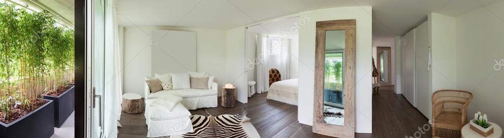 woonkamer en slaapkamer — Stockfoto © Zveiger #120111286