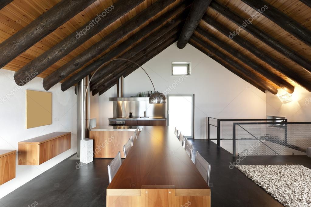 Interieur, moderne chalet — Stockfoto © Zveiger #124146222