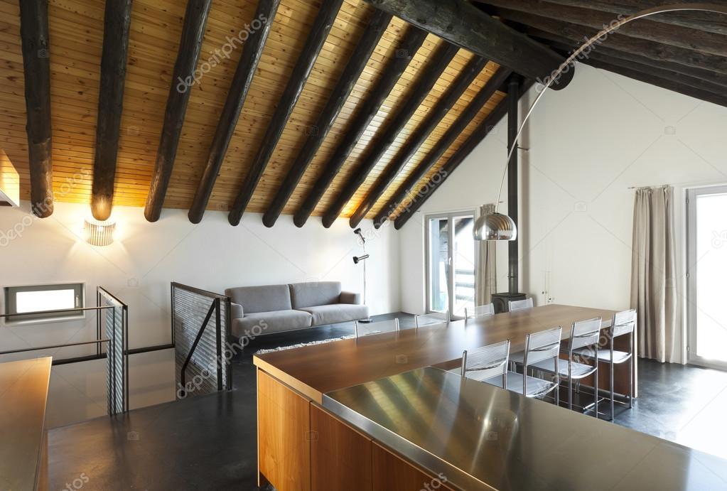 Interieur, moderne chalet — Stockfoto © Zveiger #124146832
