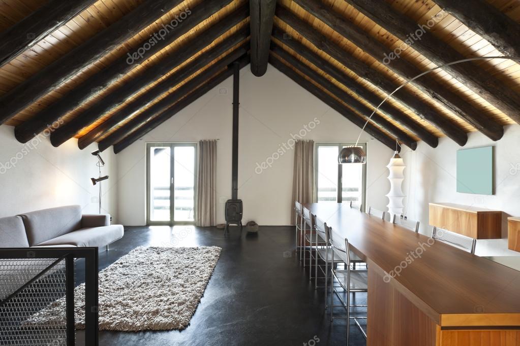 Interieur, moderne chalet — Stockfoto © Zveiger #124147018