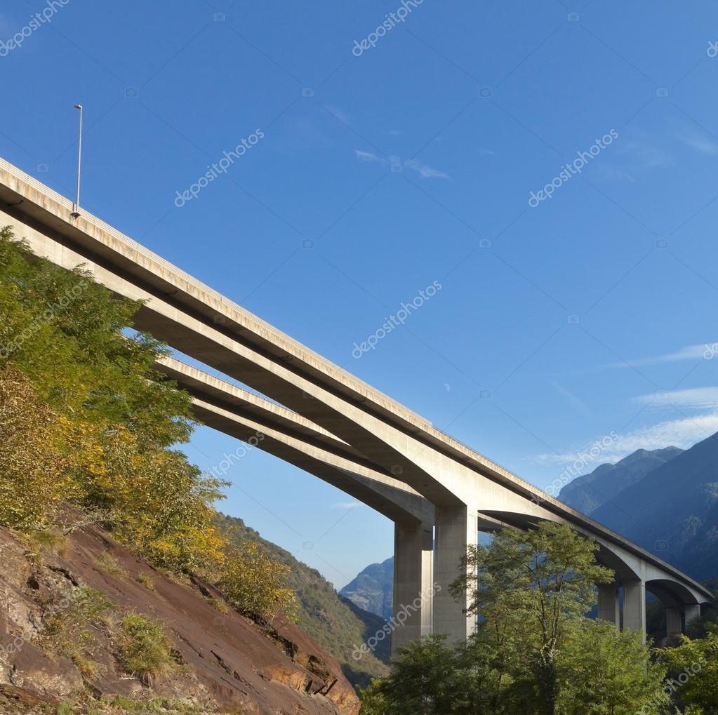 Modern Road bridge in cement