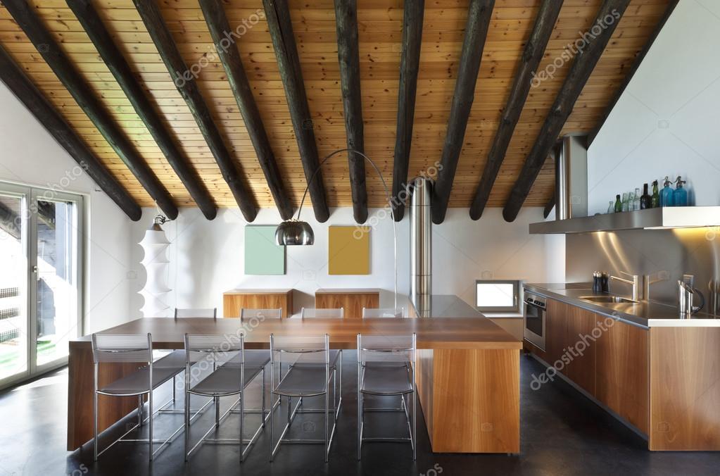 Interieur, moderne chalet — Stockfoto © Zveiger #124148748