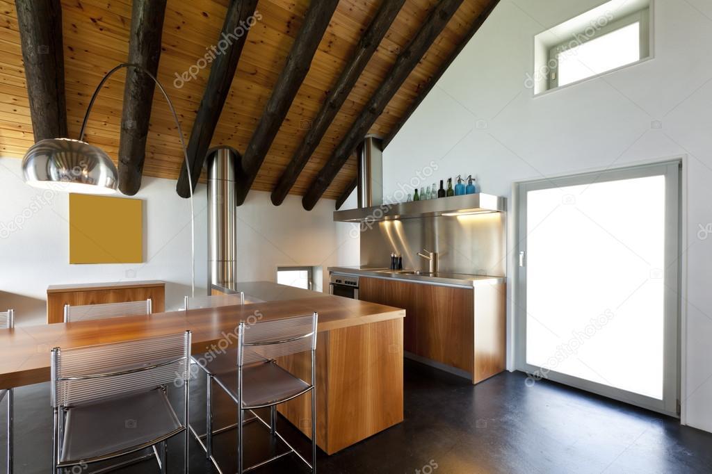 Interieur, moderne chalet — Stockfoto © Zveiger #124148778