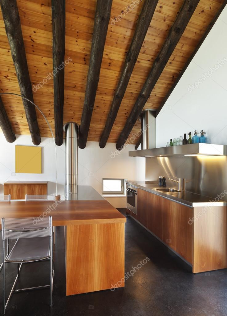 Interieur, moderne chalet — Stockfoto © Zveiger #124148834