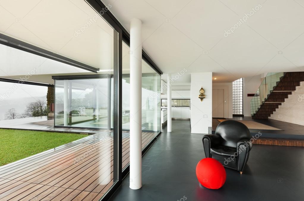 moderne Villa, Wohnzimmer — Stockfoto © Zveiger #53827981