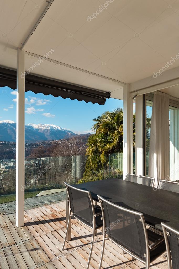 Modern house veranda Stock Photo Zveiger 53984219