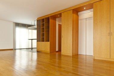 Interior with hardwood floors