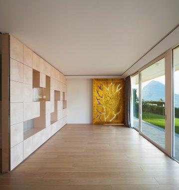 Luxury room with geometric art wall