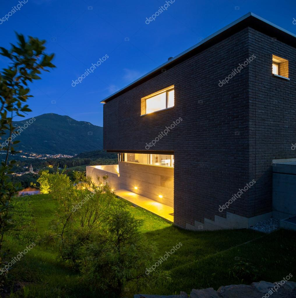 Design villa, night view